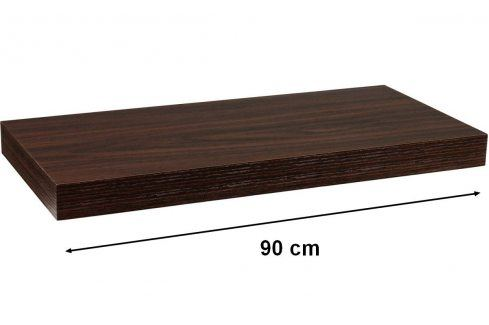 STILISTA VOLATO 31071 Nástěnná police - tmavé dřevo 90 cm Regály a policky