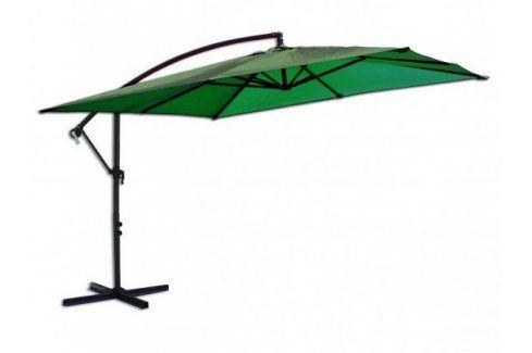 Tradgard 8080 Čtvercový slunečník boční zelený 270 x 270 cm Zahradní slunečníky a doplňky