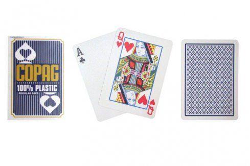 Copag Regular 2079 Poker karty 2 rohy modré Karty na poker