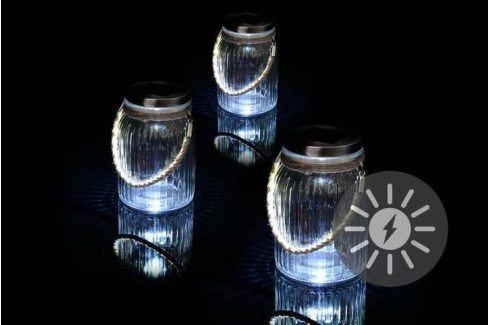 Garthen 36747 Sada 3 kusů solárního osvětlení - závěsná sklenice Zahradní lampy
