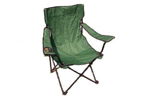 Garthen 2658 Kempinková skládací židle s držákem nápojů Zahradní židle a křesla