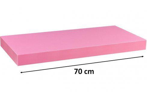 STILISTA VOLATO 31054 Nástěnná police  - růžová 70 cm Regály a policky