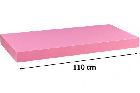 STILISTA VOLATO 31076 Nástěnná police  - růžová 110 cm Regály a policky
