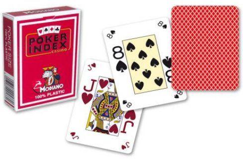 Modiano mini 2100 Karty 4 rohy - Červená Karty na poker