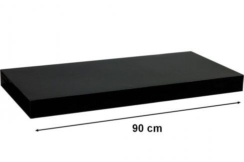 STILISTA VOLATO 31067 Nástěnná police  - lesklá černá 90 cm Regály a policky