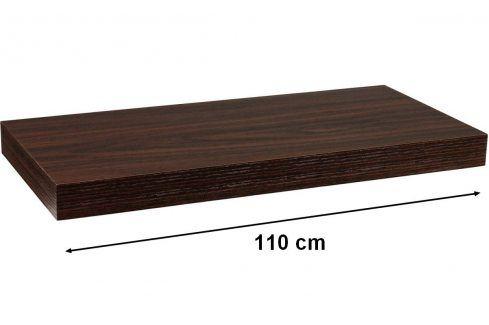 STILISTA VOLATO 31082 Nástěnná police  - tmavé dřevo 110 cm Regály a policky