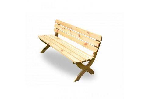 Tradgard STRONG 2724 Zahradní dřevěná lavice přírodní FSC 150 cm Zahradní lavice