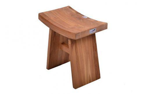 DIVERO 1613 Stolička židle z týkového dřeva Stoličky
