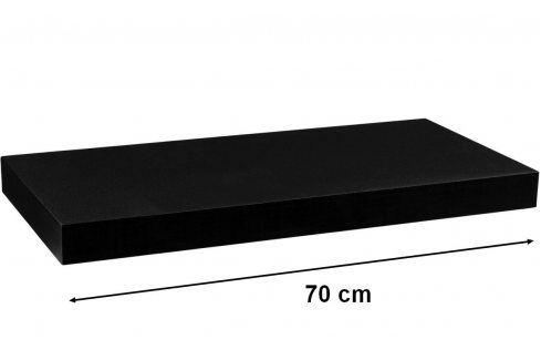STILISTA VOLATO 31051 Nástěnná police  - matná černá 70 cm Regály a policky