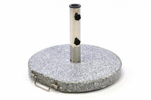 Garthen 1506 Stojan na slunečník (kruhový) - žula / nerezová ocel, 25kg Zahradní slunečníky a doplňky