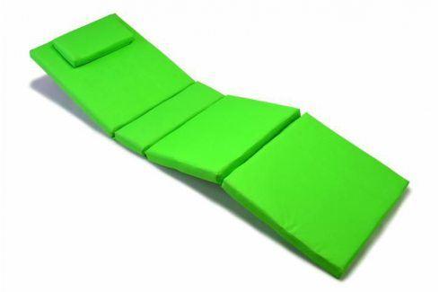 Divero 320 Polstrování na lehátko - světle zelená Zahradní slunečníky a doplňky
