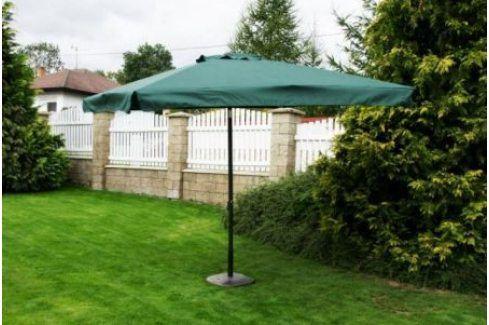 Tradgard 3874 Čtvercový slunečník - zelený 270 x 270 cm Zahradní slunečníky a doplňky