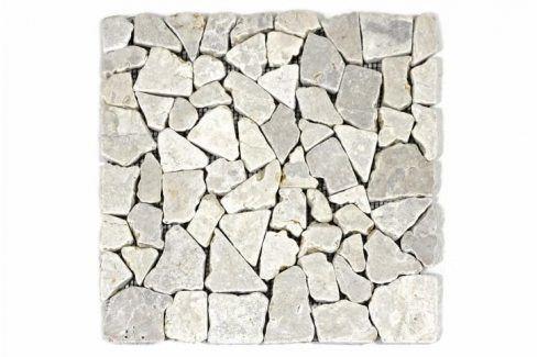 Divero Garth 1657 Mramorová mozaika - krémová 1 m2 - 30x30x1 cm Obklady a dlažby