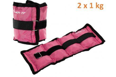 MOVIT 31947 zátěžové manžety 2x 1,0 kg růžová Zátěžové náramky