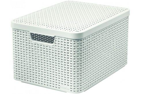 CURVER 41119 Košík box s víkem - L - krémový Úložné boxy