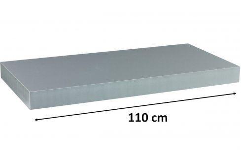 STILISTA VOLATO 31081 Nástěnná police  - stříbrná 110 cm Regály a policky