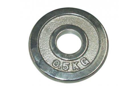 CorbySport 4748 Kotouč chrom 0,5 kg - 30 mm Závaží k Činkám