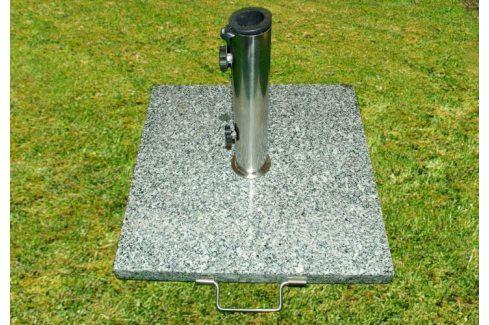 Garthen 770 Stojan na deštníky slunečníky žula/nerezová ocel 25 kg Zahradní slunečníky a doplňky