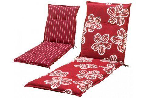 sun garden NAXOS LIEGE 35516 Polstrování na lehátko - červená Zahradní slunečníky a doplňky