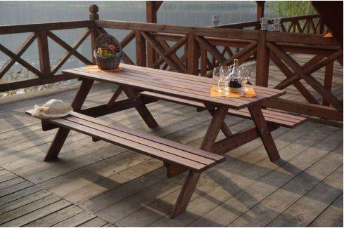 Tradgard 35269 Dřevěný PIKNIK set - 200CM Zahradní sestavy