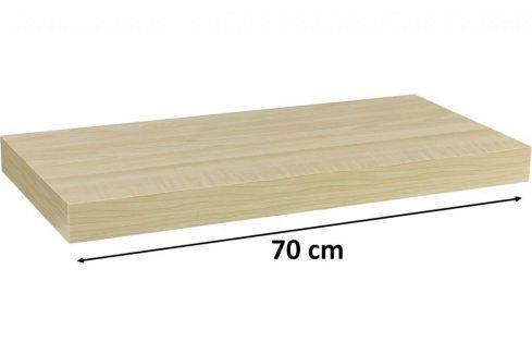 STILISTA VOLATO 31061 Nástěnná police  - světlé dřevo 70 cm Regály a policky