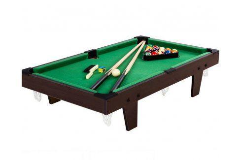 Tuin 40542 Mini kulečník pool s příslušenstvím 92 x 52 x 19 cm - hnědá Kulečníkové stoly
