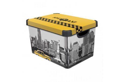 CURVER NEW YORK Úložný box s víkem L Úložné boxy