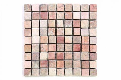 Divero Garth 1637 Mramorová mozaika - červená 1 m2 - 30x30x0,4 cm Obklady a dlažby