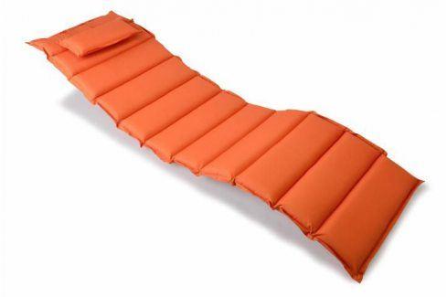 Divero 321 Polstrování na lehátko - oranžová Zahradní slunečníky a doplňky