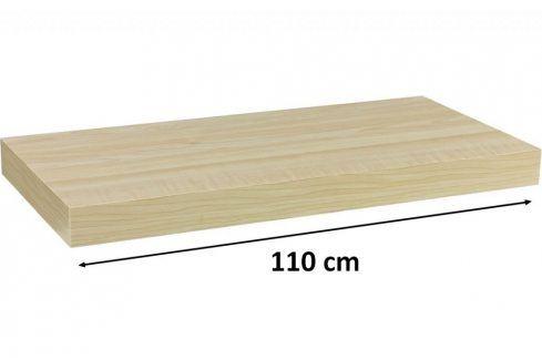 STILISTA VOLATO 31083 Nástěnná police  - světlé dřevo 110 cm Regály a policky