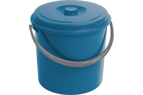 Curver 03206-287 kbelík s víkem modrý 10 l Umyvadla