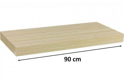 STILISTA VOLATO 31072 Nástěnná police  - světlé dřevo 90 cm Regály a policky