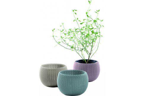 KETER COZIES Trio květináče 3ks, 15,5 x 15,5 x 10,5 cm, fialová, modrá, šedá Květináče a truhlíky