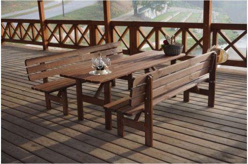 Tradgard MIRIAM 35274 Dřevěná lavice - 200CM Zahradní lavice