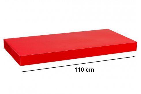 STILISTA VOLATO 31080 Nástěnná police  - lesklá červená 110 cm Regály a policky