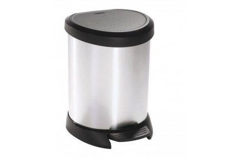 CURVER DECOBIN 30504 Odpadkový koš pedálový 5l stříbrný Kancelářské potřeby