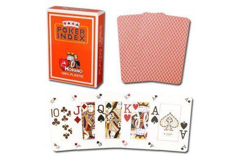 Modiano mini 2091 Karty 4 rohy - Oranžová Karty na poker