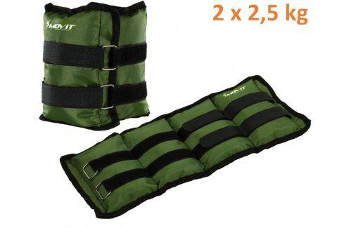 MOVIT 31950 zátěžové manžety, 2 x 2,5 kg zelená Zátěžové náramky
