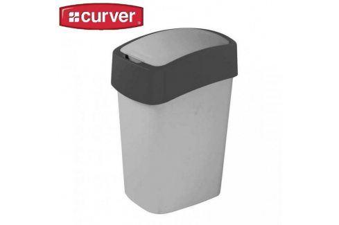 CURVER FLIPBIN 31346 Odpadkový koš 10l - šedý Kancelářské potřeby