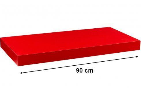 STILISTA VOLATO 31064 Nástěnná police  - matná červená 90 cm Regály a policky