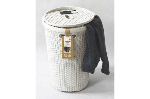 CURVER 30449 Kulatý koš na prádlo 48 L krémová Koše na prádlo