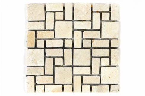 Divero Garth 1130 Mramorová mozaika krémová obklady 11 ks - 1m² - 30x30 cm Obklady a dlažby
