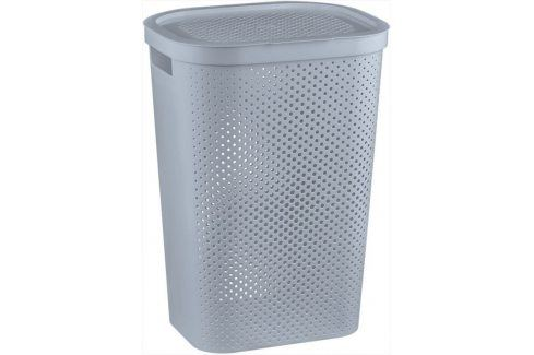 CURVER 41085 Koš na špinavé prádlo s víkem 59L šedý Koše na prádlo
