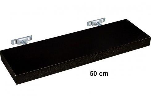 STILISTA SALIENTO 30868 Nástěnná police  - hnědočerná 50 cm Regály a policky