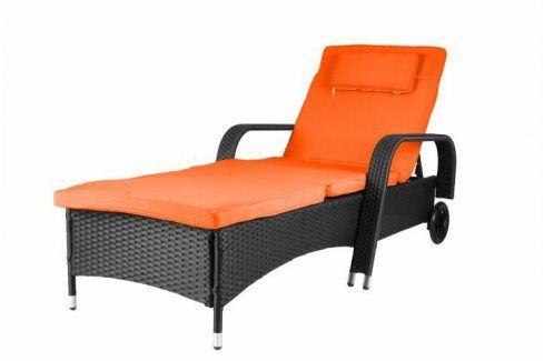 Garthen 29786 Luxusní zahradní lehátko oranžové Zahradní lehátka