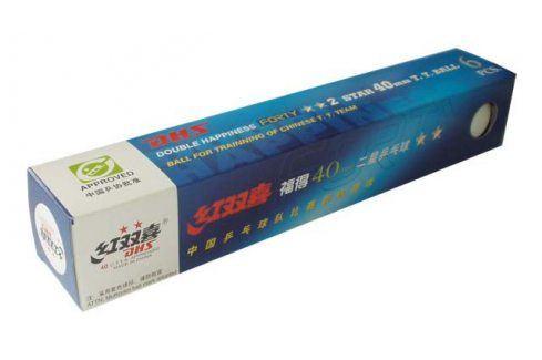 CorbySport DOUBLE HAPPINESS 2star 34881 Míčky pro stolní tenis 6ks 40mm Pingpongové míčky
