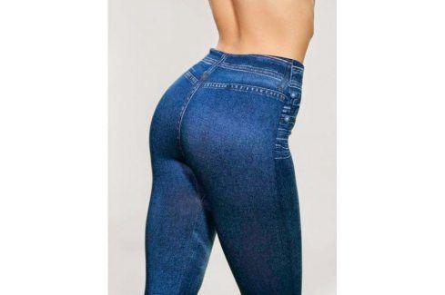 Dámské samotvarující džegíny - modrá Dámské stahovací prádlo
