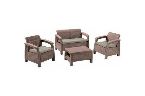 Allibert CORFU 35583 Zahradní set - cappuccino Zahradní ratanový nábytek