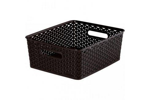 CURVER MY STYLE 33083 Plastový košík M - tm. hnědý Úložné boxy