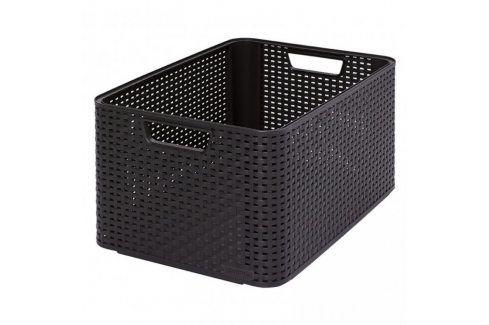 CURVER STYLE BOX 32299 Plastový úložný - L- hnědý Úložné boxy